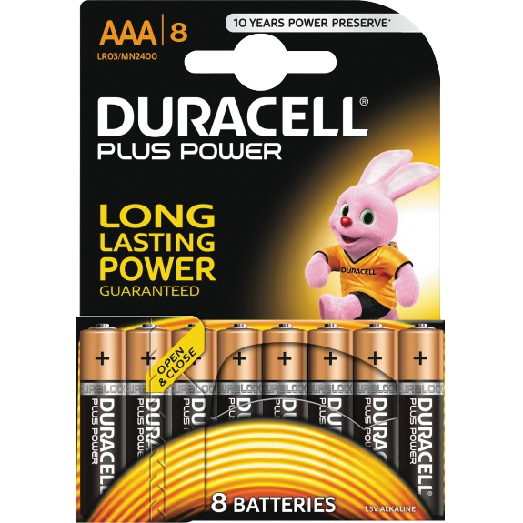 Plus Power AAA Alkaline Batteries, 8pk