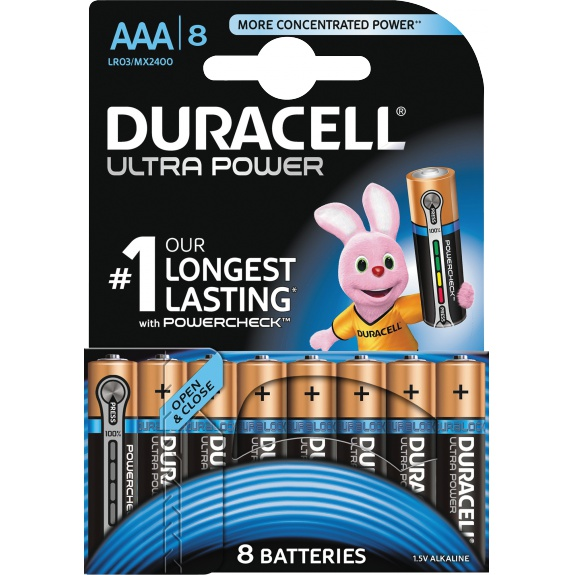 Ultra Power AAA Batteries, 8pk