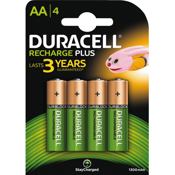 Recharge Plus AA 1300mAh Batteries, 4pk