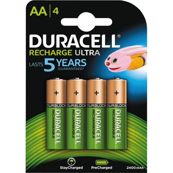 Recharge Ultra AA 2400mAh, 4pk - Precharged