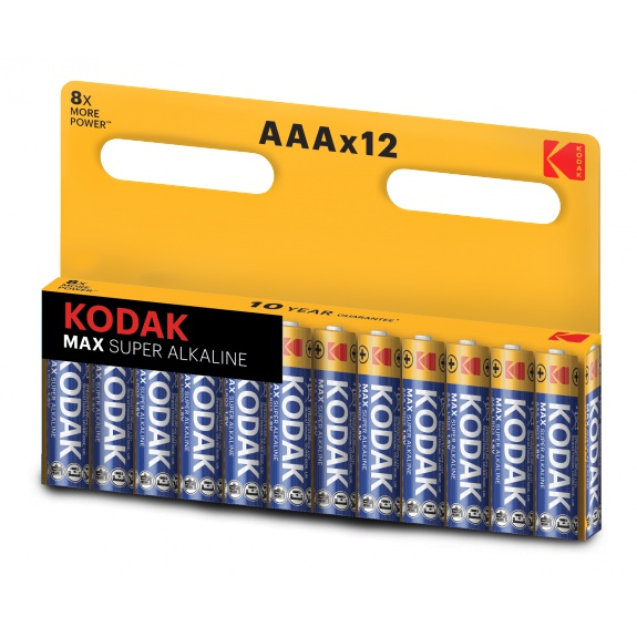 Kodak MAX alkaline AAA battery (12 pack)
