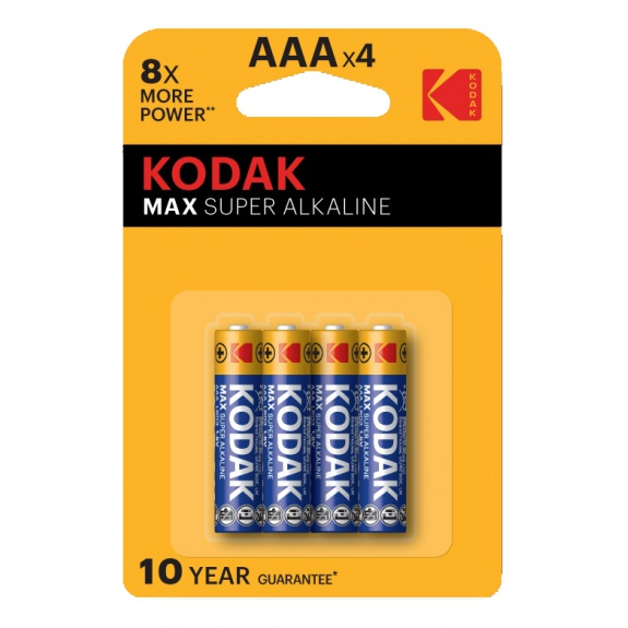 Kodak MAX alkaline AAA battery (4 pack)
