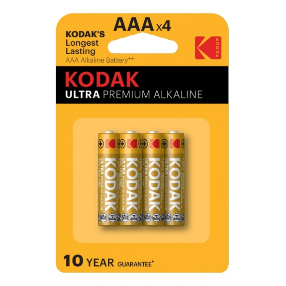Kodak ULTRA premium alkaline AAA battery (4 pack)