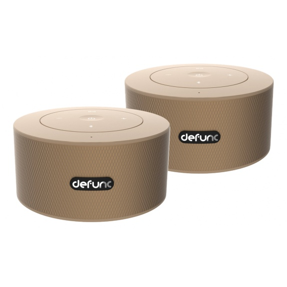 DeFunc DUO, Bluetooth speaker, duo-pack, 360 degrees sound, gold
