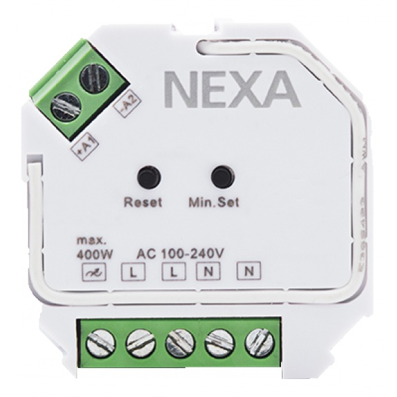 NEXA ZV-9101 Z-Wave dos dimmer, adjustable lowest dimmer level,
