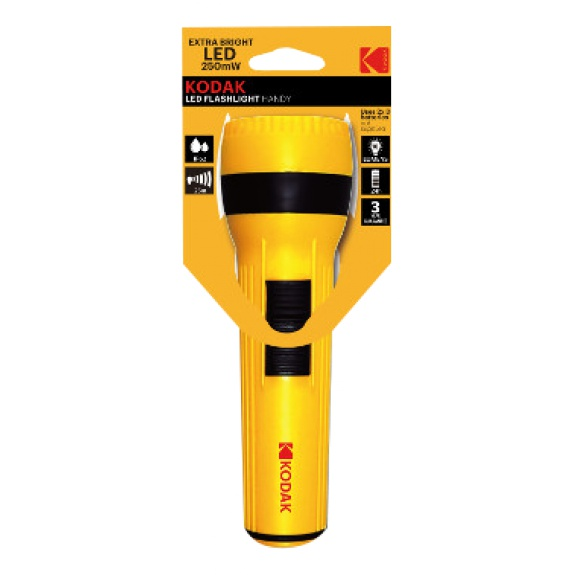 KODAK Yellow-Flashlight LED 250mW excl. 2xD
