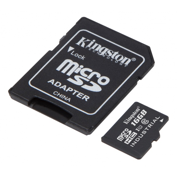 Kingston 16GB microSDHC UHS-I Class 10 Industrial Temp Card,SD-s