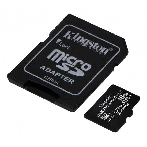 Kingston 16GB micSDHC Canvas Select Plus 100R A1 C10 3-pack + 1