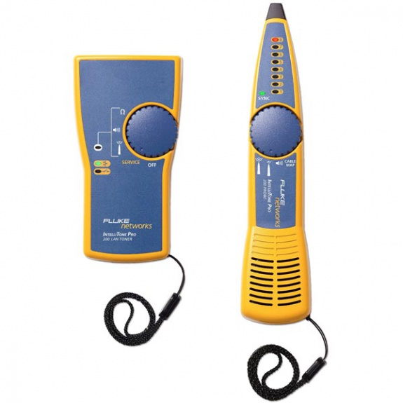 Fluke IntelliTone Pro 200 LAN Kit, Toner+Probe, kelt/sin