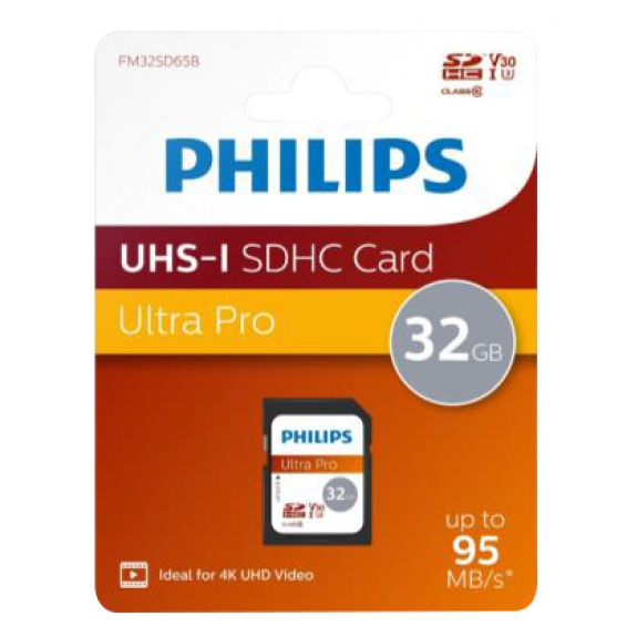Philips Micro SDHC Card 32GB Class 10 UHS-I U1 incl. Adapter