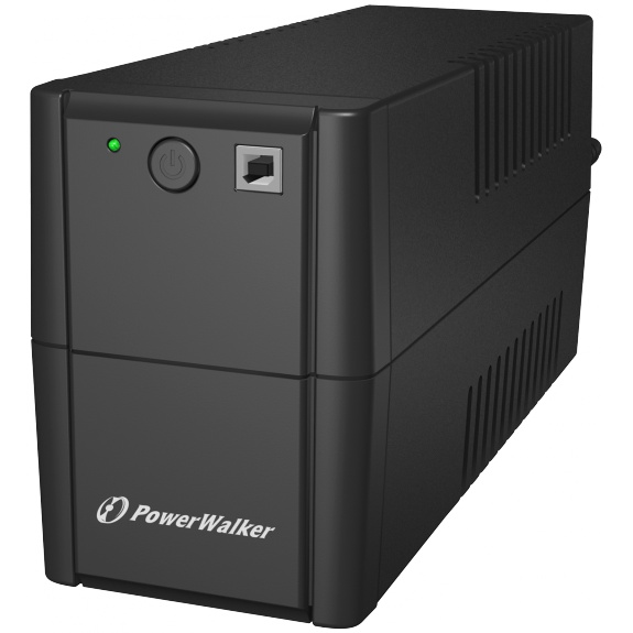 PowerWalker PWALK-0007 UPS, 2xSchuko, 650 VA, 0.55 OF, black