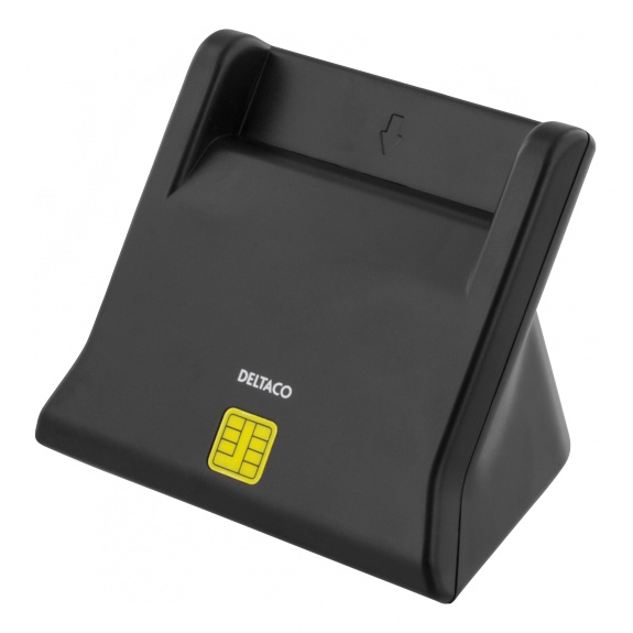 DELTACO UCR-156 Smart card reader, USB, black